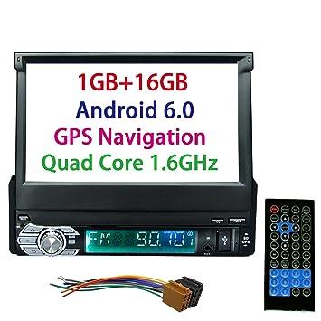 panlelo PA08, DIN pantalla Jefe Unidad Android 5.1 telescópica plegable de navegación GPS coche Monitor
