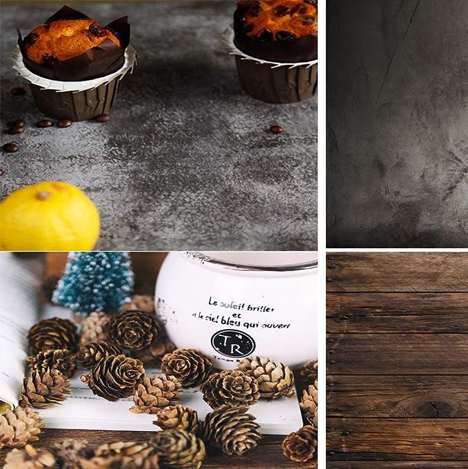 Konpon 2 In 1 Fotohintergrund Für Lebensmittel Kuchen Schmuck Luxuskosmetik Obst Tischfotografie Bilder Ws 01 83