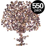 Findfly 550Pcs Brown Resin Buttons Favorite Findings Basic Buttons 2 and 4 Holes Craft Buttons for Arts, DIY Crafts, Decoration, Sewing - Sizes Range from 0.28 to 1.18 Inch