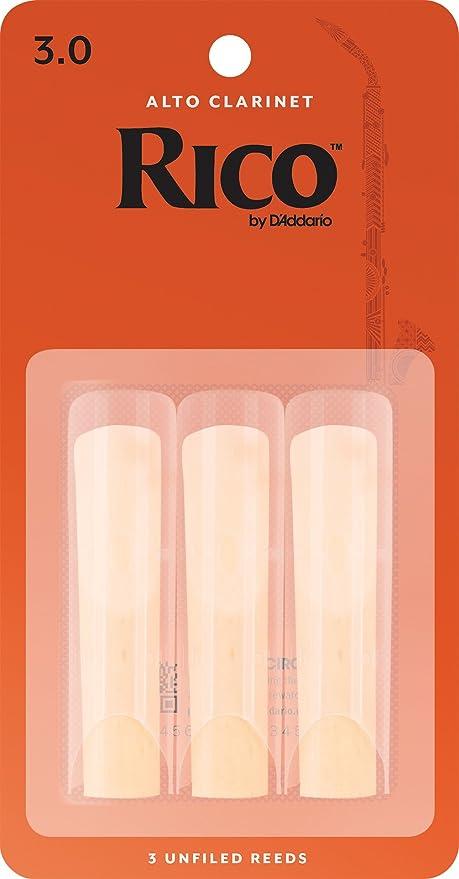 Rico by DAddario. Cañas para clarinete Alto, fuerza 3, pack de 3: Amazon.es: Instrumentos musicales