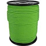 PP Seil Polypropylenseil SH 3mm 100m Farbe Fluorgrün (2000) Geflochten