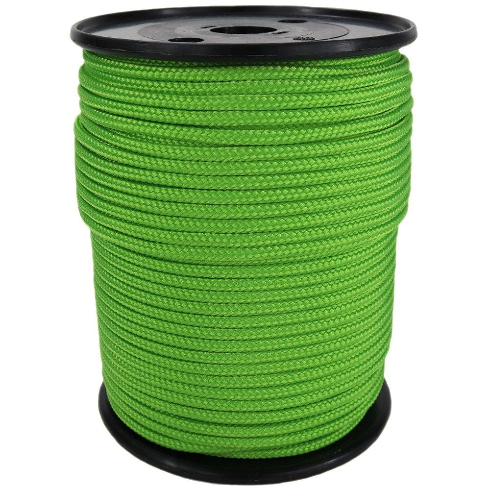 PP Seil Polypropylenseil SH 10mm 100m Farbe Fluorgrün (2000) Geflochten