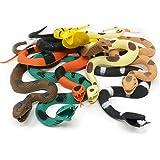 "Boley Giant Rubber Snakes 18"" Long Jungle, Rainforest and Tropical Snakes, including Rattlesnakes, Pythons Cobras - 8 pack"