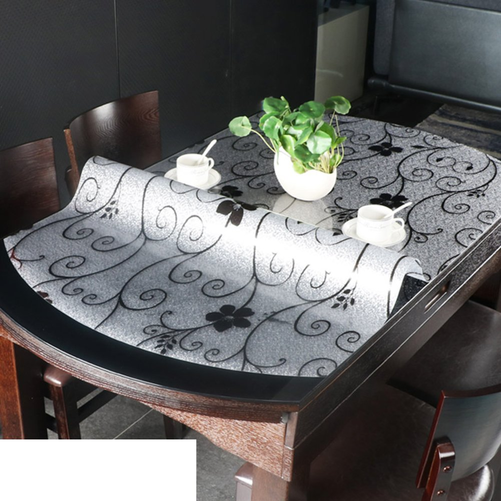 Oval tablecloth/pvc,[soft glass],transparent table mat/[waterproof], burn-proof,crystal plate, plastic tablecloths/table mat -F 86x138cm(34x54inch)