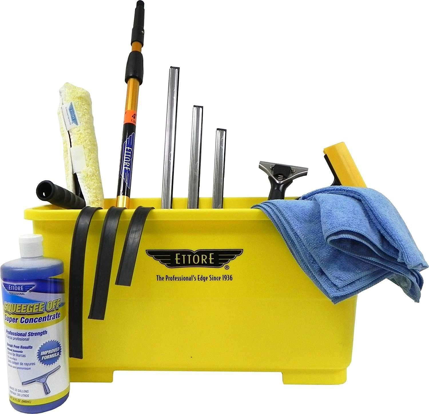 Image of Ettore Professional Window Cleaning Kit with 4' Extension Pole Health and Household