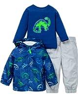 Little Me Boys Dinosaur Jacket and Pant Set