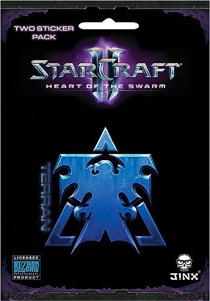 JINX Starcraft II Wings of Liberty Terran Sticker Gold, 2 Multi-Size Stickers