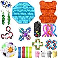 Azbel Sensoriska leksaksset, 23 st figet-leksaker för barn och vuxna, stressavlastning för barn och vuxna…