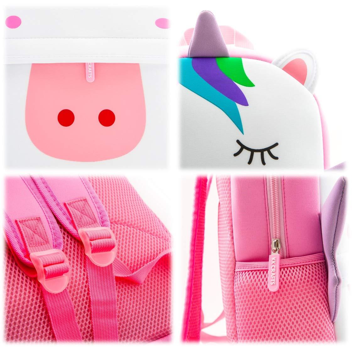 Waterproof Children School Backpack Neoprene Animal Schoolbag for Kids Rabbit Toddler Backpack Lunch Box Carry Bag for Boys Girls