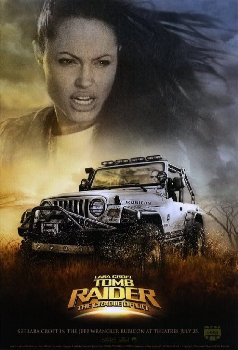 Original Advance Movie Poster Lara Croft Tomb Raider 2001 Rolled