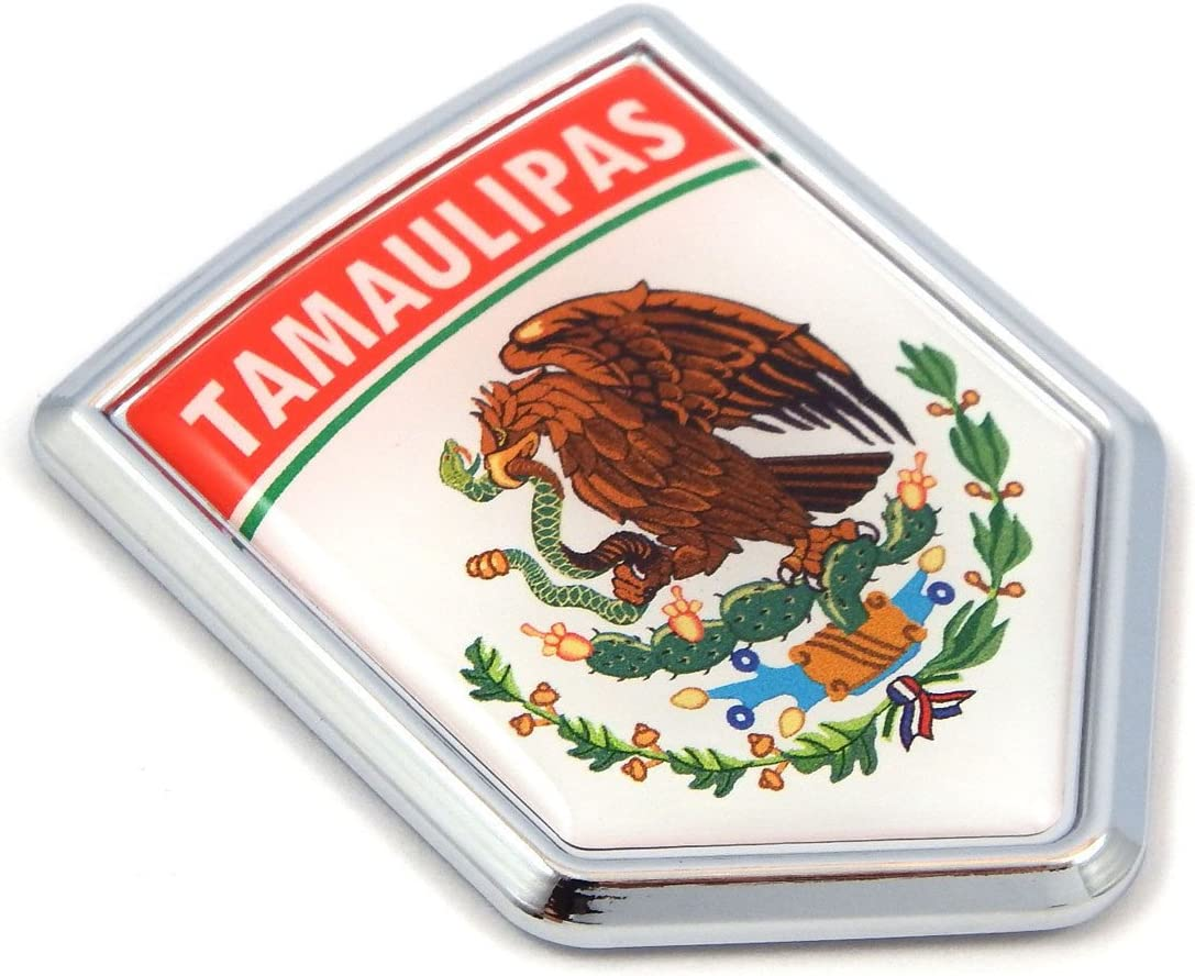 USA Mexico American Mexican Flag Emblem Screw On Car License plate Decal  badge