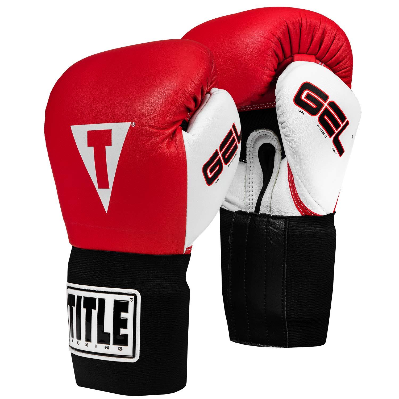 タイトルジェルIntenseトレーニング/ Sparring Gloves レッド/ホワイト 14-Ounce