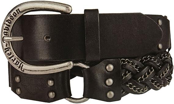 Harley-Davidson Women/'s Stardust Crystal Genuine Leather Belt HDWBT11350-BLK