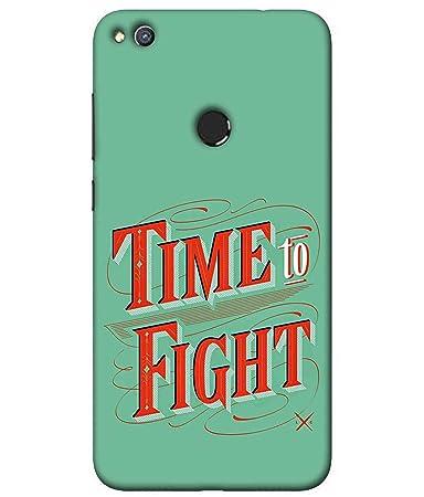 Printfidaa Time to Fight Caption Printed Designer Hard: Amazon.in ...