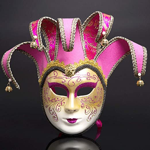 FIREWSJ Máscara De Fiesta De Disfraces Máscara Italiana Pintada De ...