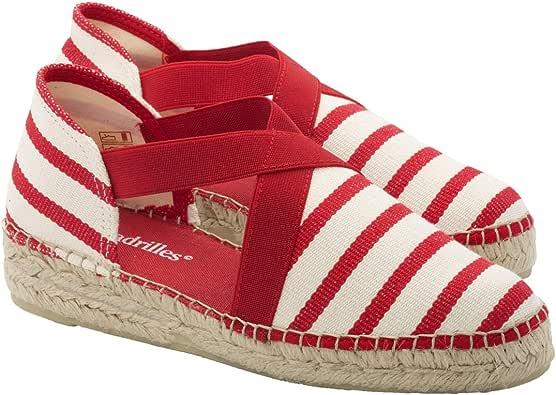2 Espadrilles - Alpargatas Sandalias Mujer Fabricadas a Mano en España Espadrilles Esparto Zapato para Mujer Tacón Montse: Amazon.es: Zapatos y complementos