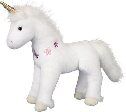 Handmade Stuffed Animal Unicorn Unicorn Stuffie Teal and Gold Plush Unicorn