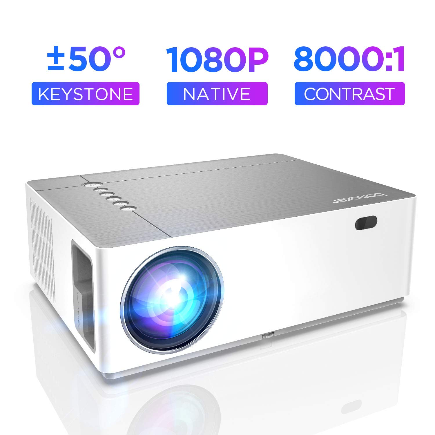 Proyector, ABOX T22 Home Theater LCD Video Projector Support 1080p ...