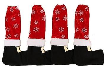 Weihnachtsdeko Stuhl.Lukis 4 Stück Weihnachten Tisch Stuhl Bein Abdeckung Socken