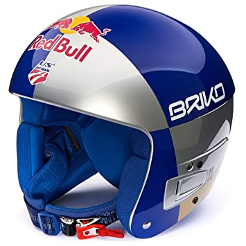 Briko Casco Junior Red Bull Lindsey Vonn FIS 6.8, Color Azul, tamaño XS
