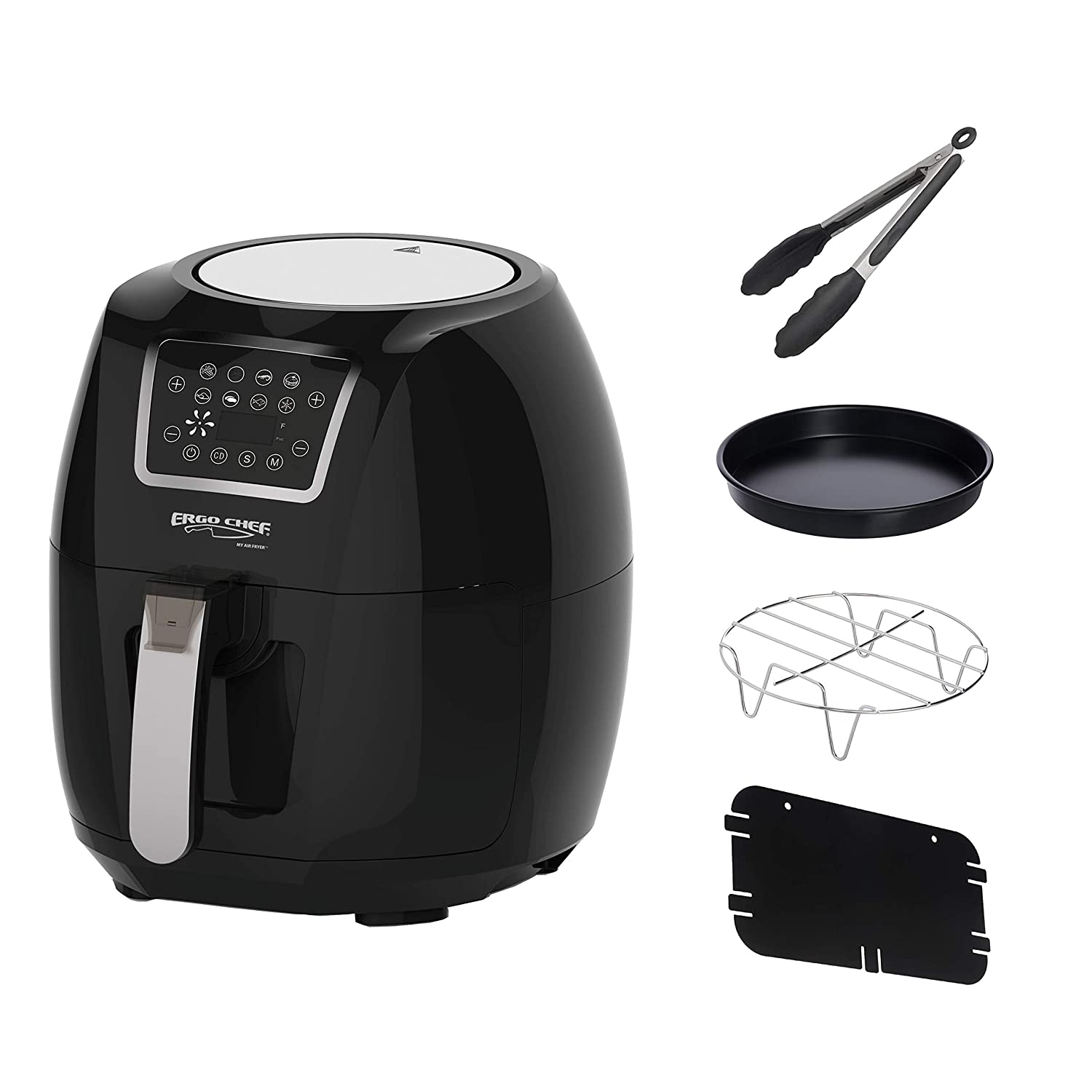 Ergo Chef USA MY AIR FRYER Large 5.8-Quarts Electric Air Fryer XL Powerful 1700 WATTS Includes 4 Accessories and Recipes