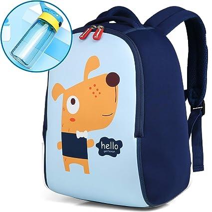 YYBF Mochila para Niños, Azul Mochila Escolar, Toddler Kids