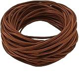 281eb0f07db9 21M Cuerda de Cuero para Pulsera Collar Fabricación de Bisutería y Abalorios  Artesanía (café)
