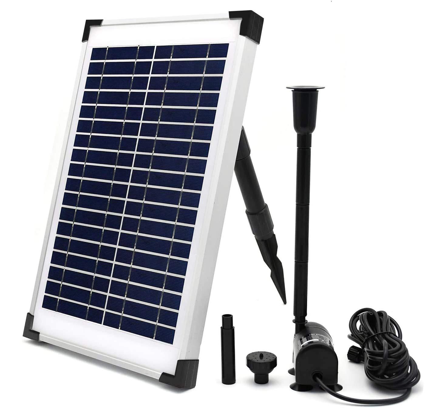 ECO-WORTHY Solar Fountain Water Pump Kit 10 W