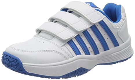 K-Swiss Court Smashstrpomni Zapatillas, Unisex niños, Blanco/Azul ...