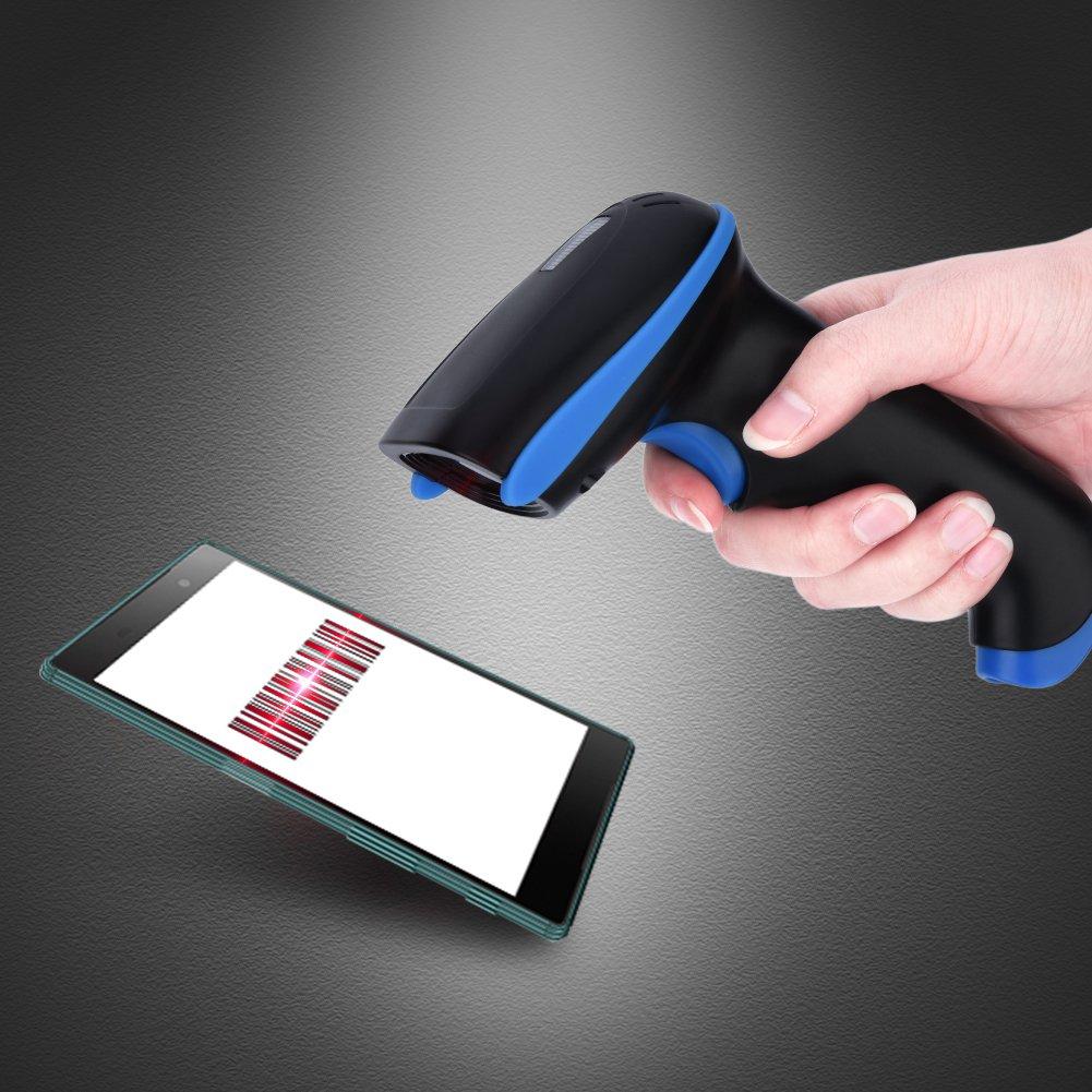 XP Mugast Lettore di Codici a Barre Laser USB 2.4GHz Bar Code Reader Portatile Ideale per Supermercato//Magazzino//Hotel Compatibile con iOS//Android//Window 7//8//10 Giallo