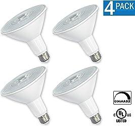 [4-Pack] OptoLight PAR38 LED 12 Watt 2700K Warm White, DIMMABLE,