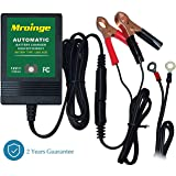 Mroinge MBC010 12V/1000mA Smart Battery Charger / Maintainer , big alligator clip and 12ft output cord