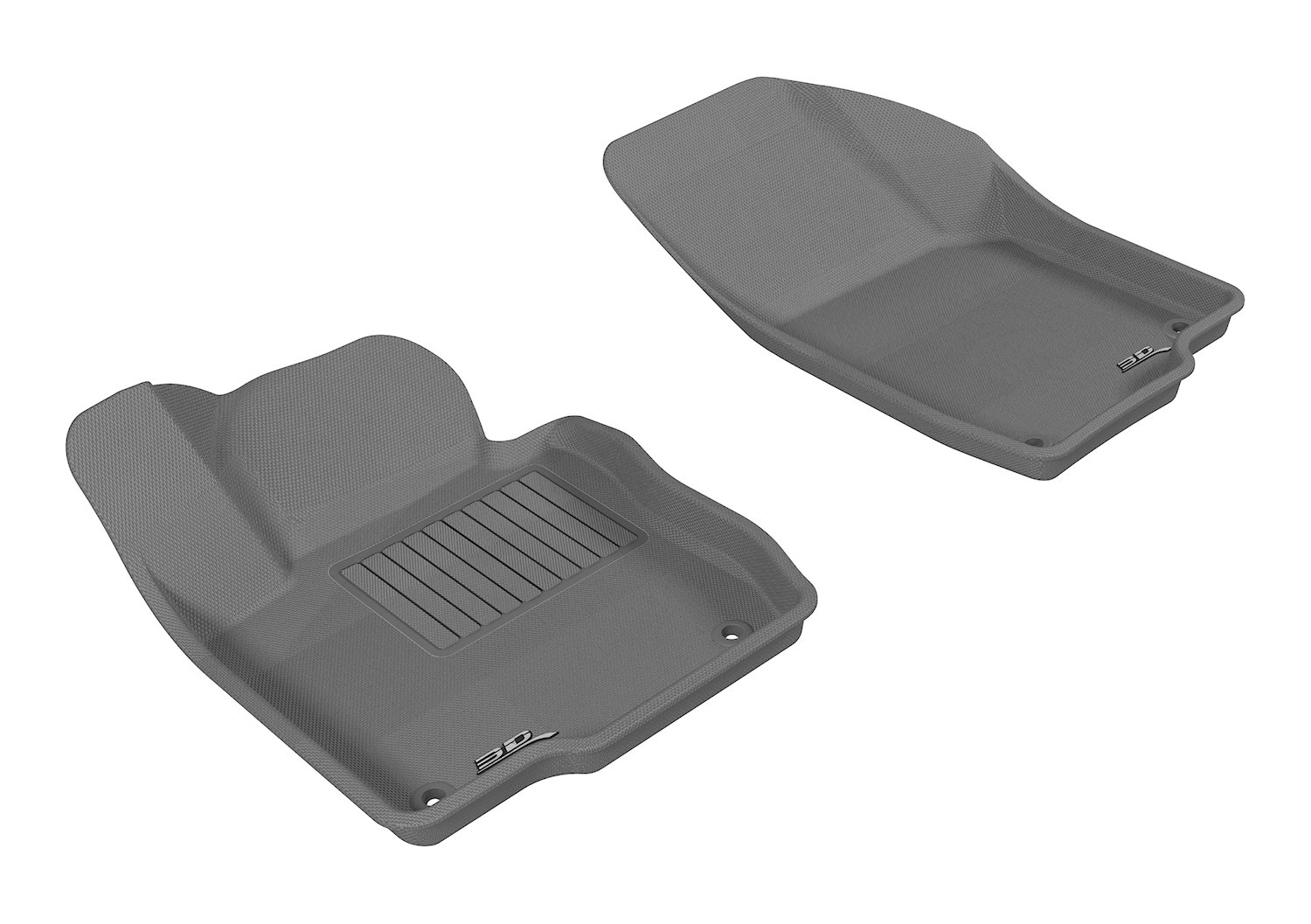L1VW05621501 Gray 3D MAXpider Second Row Custom Fit All-Weather Floor Mat for Select Volkswagen Passat Models Kagu Rubber