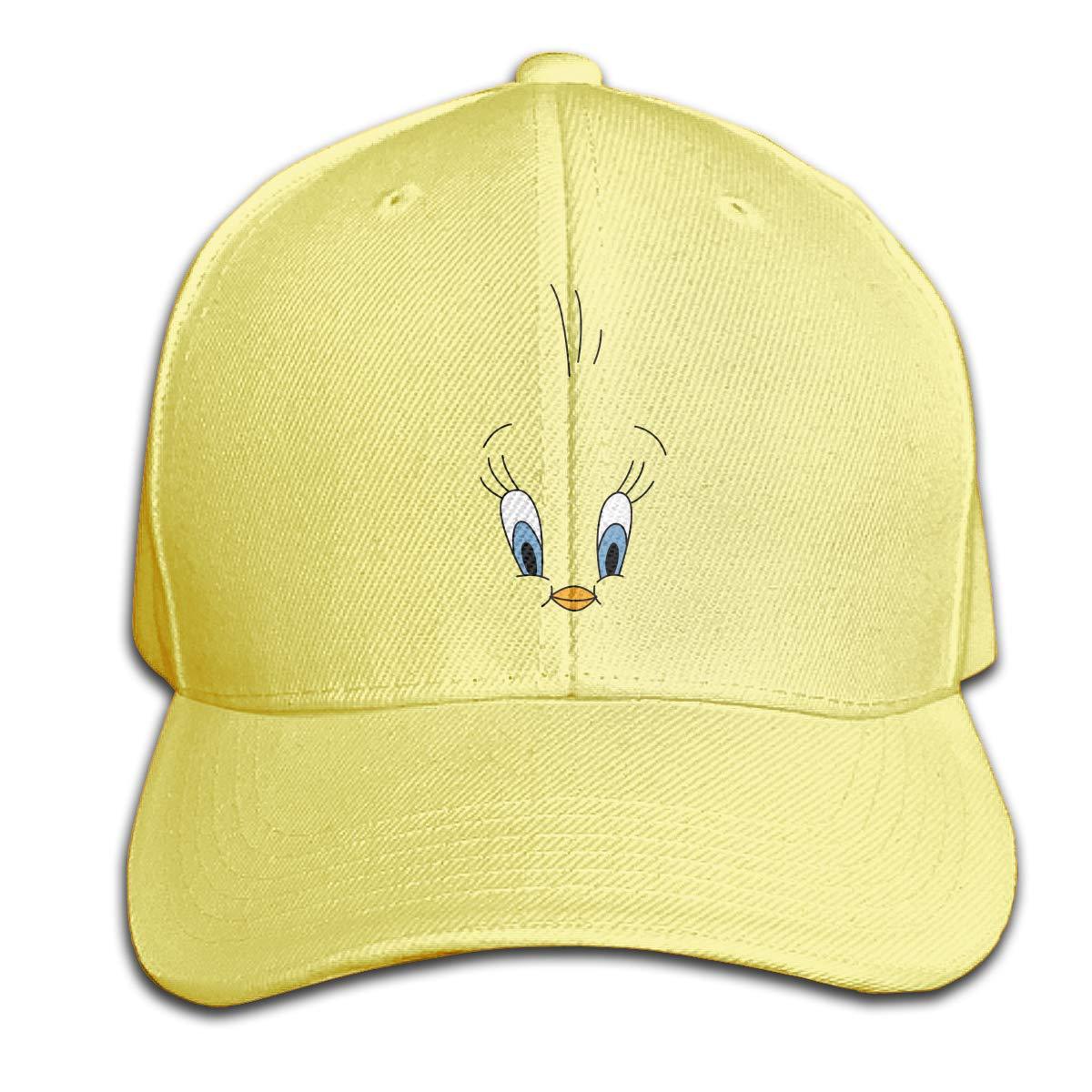 Tweety-Bird Face Cappellino con Visiera in Puro Colore Premium Cappello da panino Regolabile Sport Grigio