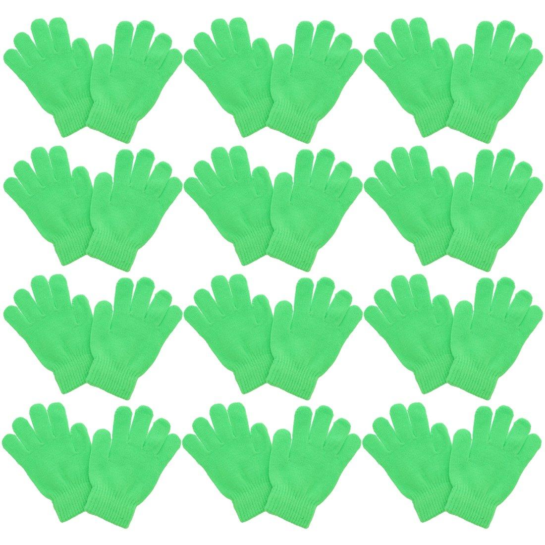 Kids Gloves Magic Knit for Girls/Boys | Set of 12 | Black Motique Accessories 12MTGL0023BK