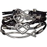 Bracelet infinity infini cœur noir kamra hunger games fleche noir