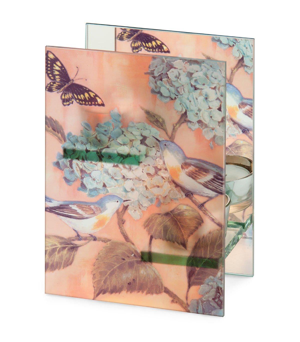 Birds and Hydrangea October Hill Double Tealight Holder