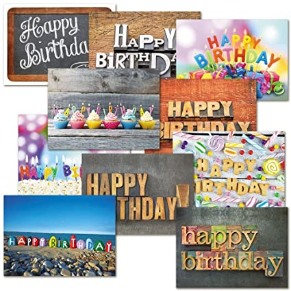 Amazon playful type birthday greeting cards value pack set playful type birthday greeting cards value pack set of 20 10 designs m4hsunfo