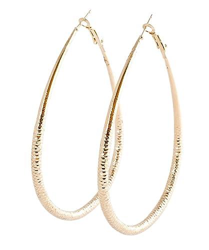 49bf73f6fbfb Geralin Gioielli para mujer pendientes grandes pendientes de aro de oro  diamante moda pendientes hechos a mano Vintage  Amazon.es  Joyería