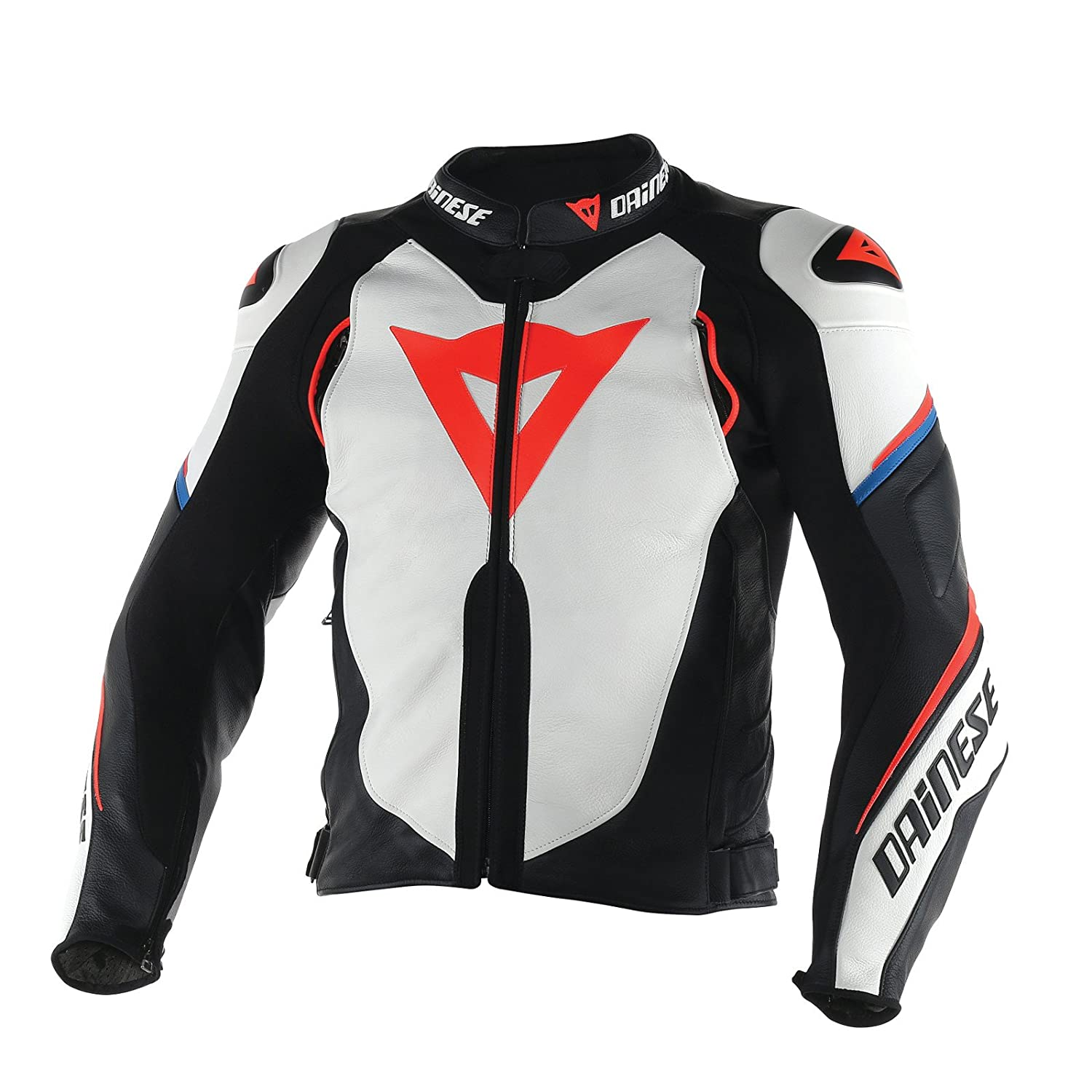 Amazon.com: Dainese Super Speed D1 Leather Jacket (WHITE ...