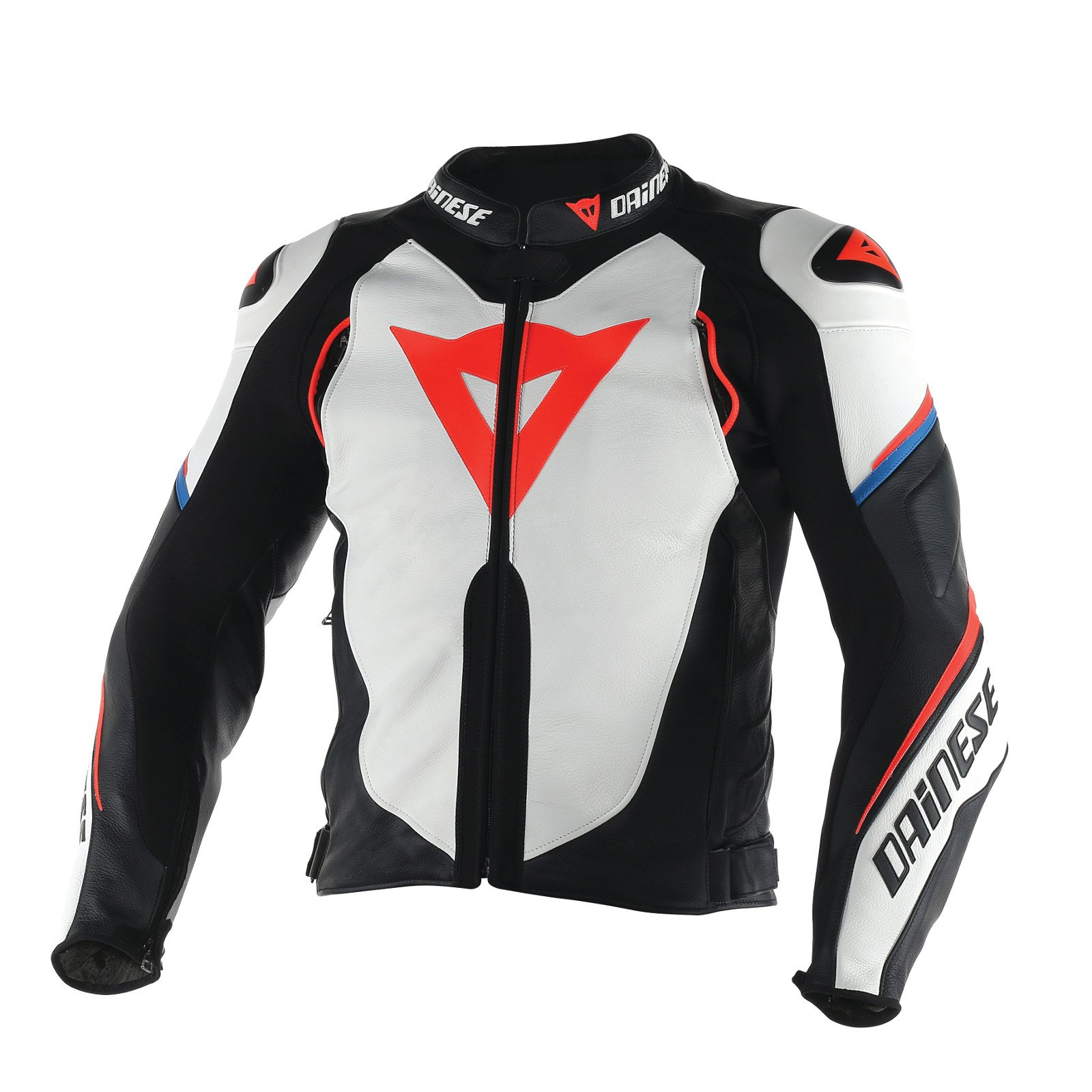 39015250 Galleon - Dainese Super Speed D1 Leather Jacket (50)  (BLACK/ANTHRACITE/WHITE)