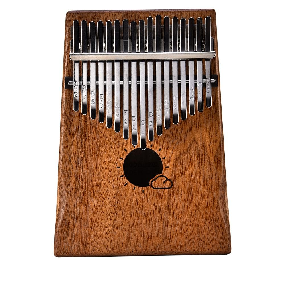 17 Keys Kalimba Mahogany Portable Thumb Piano with Instruction and Tune Hammer, Education Toy Musical Instrument for Music Lover and Beginner Muspor