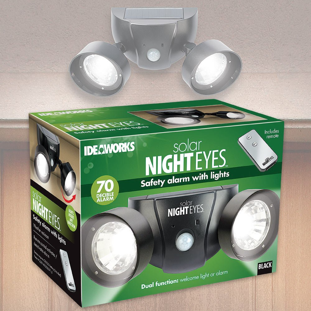 Ideaworks Solar Night Eyes Alarm Light
