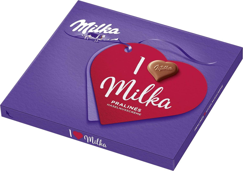 I Love Milka Bombones, madera de nogal nugat, 110 g, 5 unidades (5 ...