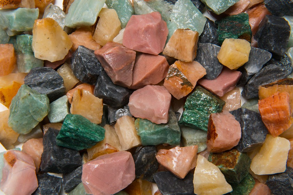Fantasia Materials: 18 lb Assorted Aventurine Rough Stones from India - Raw Natural Crystals for Cabbing, Cutting, Lapidary, Tumbling, Polishing, Wire Wrapping, Wicca & Reiki Healing
