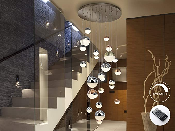Schuller Moderne Lampe Sphere 27l Chrom Dimmbar Mit Fernbedienung 80x80 Amazon De Beleuchtung