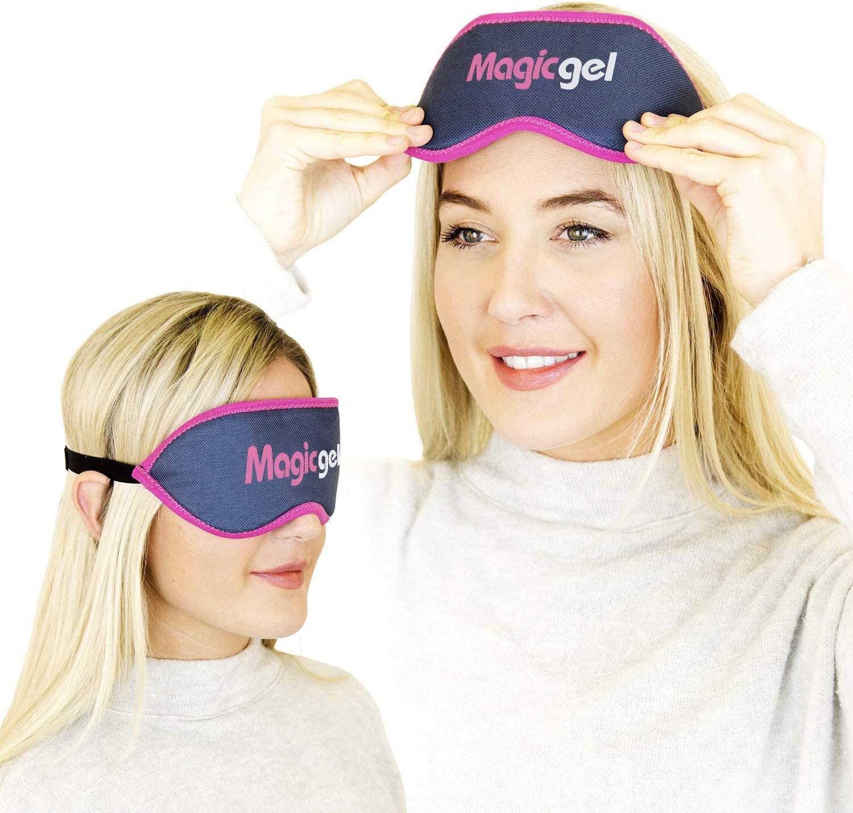 Máscara de ojos de lujo calentada - La mejor compresa caliente para un tratamiento de ojos secos, tratamiento de la blefaritis, MGD y ojos cansados. (Twinpack) de Magic Gel