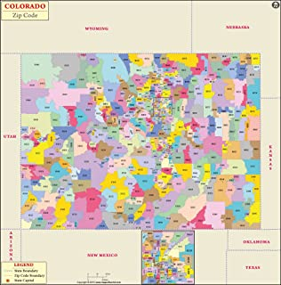 Amazon.com : Colorado County Map - Laminated (36\