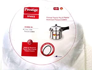 Prestige 2 Pieces of Rubber Gaskets and 2 Pieces of Safety Valve for 2 L, 3 L Popular Plus/Aluminium Pressure Cookers