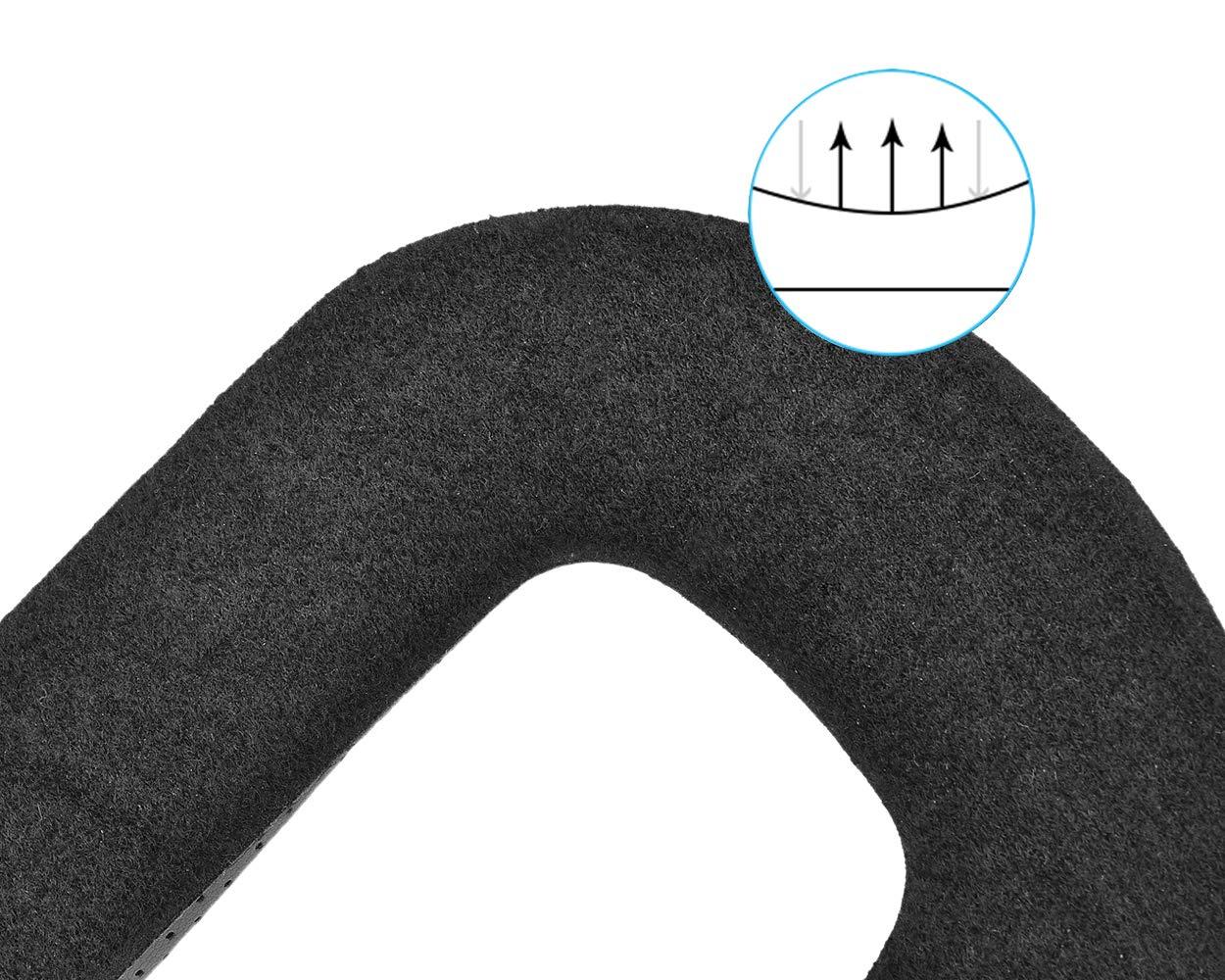 DSstyles Remplacement de mousse de visage pour HTC VIVE VR Face Cover 11mm Eye Mask Pad avec couverture en cuir PU